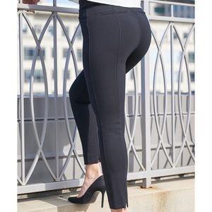 Spanx The Perfect Back Seam Skinny Pant Navy sz M